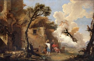 Salvator Rosa, Astraeas Abschied von den Hirten, Mitte des 17. Jh.