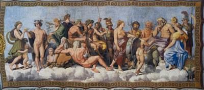 Raffael, Villa Farnesina, Rom, Deckenbild (Detail)